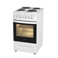 Плита электрическая Darina 1D EM241 419 W White 4 конфорки, духовка 50л, 50x60x85, механ. управление