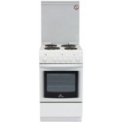 Плита электрическая De luxe 5004.10э(кр) White 4 конфорки, духовка 43л, 50x50x85, механ. управление