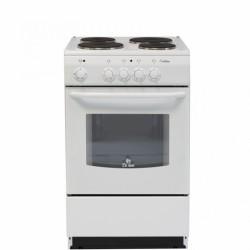 Плита электрическая De luxe 5004.12э White 4 конфорки, духовка 43л, 50x50x85, механ. управление