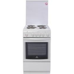 Плита электрическая De luxe 506004.00э(кр) White 4 конфорки, духовка 54л, 50x60x85, механ. управление