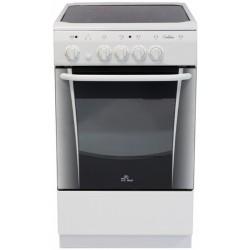 Плита электрическая De luxe 506004.04эс White 4 конфорки, духовка 54л, 50x60x85, механ. управление