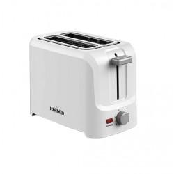 Тостер Hermes Technics HT-TO101 White 850Вт, механическое управление, 6 режимов