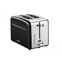 Тостер Hermes Technics HT-TO102 Black/silver 920Вт, механическое управление, 6 режимов