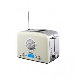 Тостер Hermes Technics HT-TO104 Biege/silver 920Вт, механическое управление, 6 режимов, радио