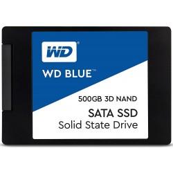 SSD-накопитель 500Гб WD BLUE [WDS500G2B0A] (Marvell 88SS1074,TLC 3D NAND,560/530 Мб/с)