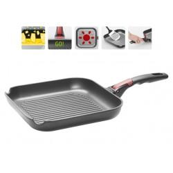 Сковорода-гриль NADOBA VILMA (728220) 26*26см,съемная ручка,для всех типов плит