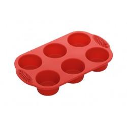 Форма для выпечки NADOBA MILA (762016) 6 круглых маффинов,силиконовая,30*18*4,3см