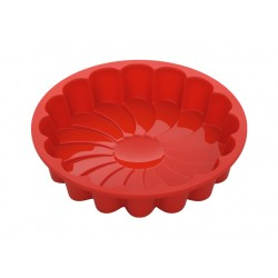 Форма для выпечки NADOBA MILA (762023) круглая,силиконовая,в виде цветка,23*4.5см