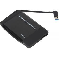 """Внешний бокс для HDD 2.5"""" USB 3.0  Orient 2565 U3 черный,встроенный кабель"""