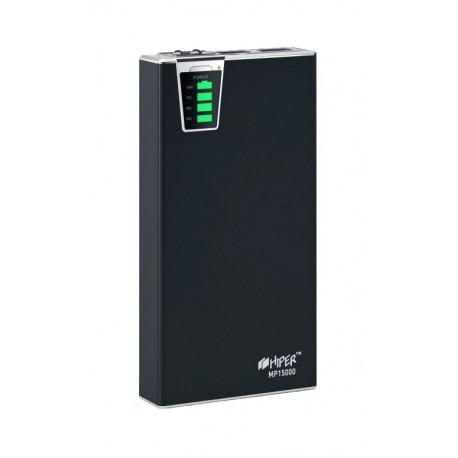 Аккумулятор внешний 15000 mAh HIPER MP15000 черный 2.1A+1A