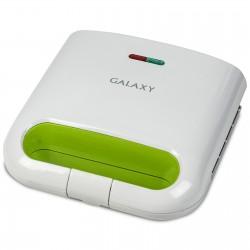 "Вафельница Galaxy GL 2963 White/green 800Вт, антипригарное покрытие, форма вафель ""Квадрат"""