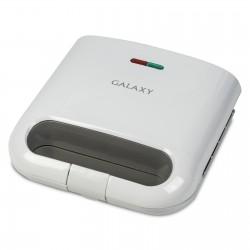 Сэндвичница Galaxy GL 2962 White 800Вт, антипригарное покрытие, индикатор работы