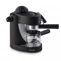 Кофеварка Galaxy GL 0752 Black (900Вт,0.24л,5 бар,рожковая,тип кофе: молотый)