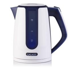 Чайник Galaxy GL 0207 White/blue (2200Вт,1.7л,пластик,закрытая спираль)