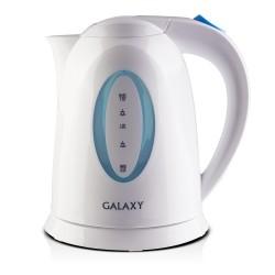 Чайник Galaxy GL 0218 White/blue (2200Вт,1.7л,пластик,открытая спираль)