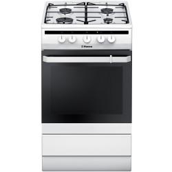 Плита газовая Hansa FCGW51001 White 4 конфорки, духовка 58л, 50x60x85, механ. управление