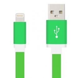 Дата-кабель для Apple Lighting Krutoff плоский 1м зеленый