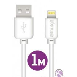 Кабель Lightning (m) - USB(m) Krutoff 1м, Classic, 1.5А, белый