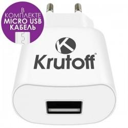 Зарядное устройство - USB 1A Krutoff CH-13 + кабель micro USB