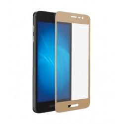 Защитное стекло для Samsung Galaxy J2 Core с цветной рамкой (fullscreen) DF sColor-59 gold