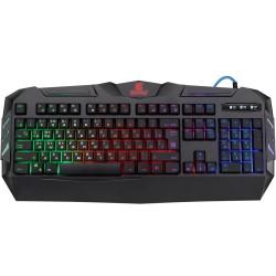 Игровая клавиатура USB Defender Werewolf GK-120DL RU мембранная, 104+12клавиш, RGB подсветка Black