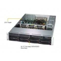 Supermicro A+ Server 2U 2013S-C0R Single AMD EPYC/ no memory(8)/ Broadcom 3008/ no HDD(8)LFF/ 2xGE/ 2x740W