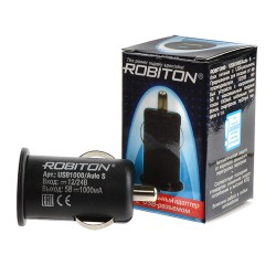 Блок питания Robiton USB1000 Auto S/5в, 1А, USB, в прикуриватель