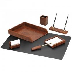 Набор настольный DELUCCI 7 предметов, коричневый орех (MBn 07214)