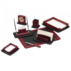 Набор настольный DELUCCI 8 предметов, красное дерево, часы (MBn 08221)