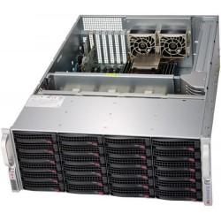 Supermicro SuperStorage 4U Server 6049P-E1CR24H noCPU(2)Scalable/TDP 70-205W/ no DIMM(16)/ 3108RAID HDD(24)LFF/ 2x10Gbe/ 5xFH/ 2x1200W