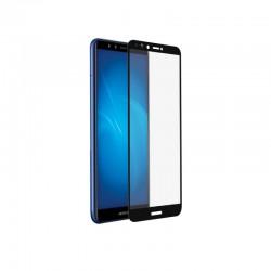 Защитное стекло для Huawei Y9 (2018)/Y9 Prime (2018) с цветной рамкой (fullscreen+fullglue) DF hwColor-48 black