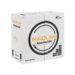 Витая пара 305m Cu NIKOLAN F/UTP 24 AWG 4 пары кат 5E NKL 4200A-GY экран