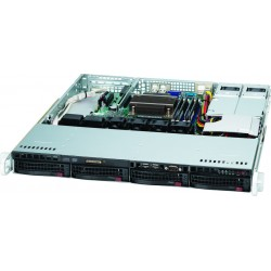 "Supermicro SuperChassis 1U 813MTQ-R400CB/ no HDD(4)LFF/ 1xFH/ 2x400W Gold(9.6"" x 9.6"", 12"" x 10"")Micro-ATX, ATX/ Backplane 4xSATA/SAS"