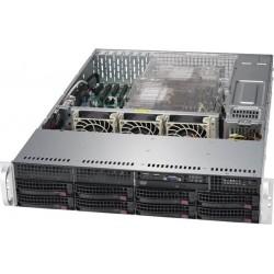 """Supermicro SuperChassis 2U 825TQC-R1K03LPB/ no HDD(8)LFF/ no fixed LFF(2)/ 7xLP/ 2x1000W Titanium(12"""" x 13"""", 13.68"""" x 13"""", 12"""" x 10"""")E-ATX, ATX/ Backplane 8xSATA3/SAS3"""