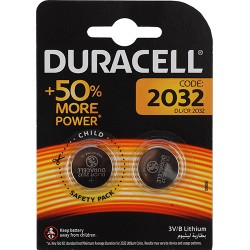 Батарейки CR2032 DURACELL упак 2 шт./3В. литиевые