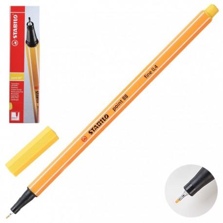 Ручка капиллярная STABILO желтый 88/44 0,4мм