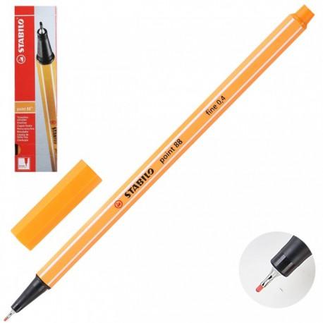 Ручка капиллярная STABILO оранж. 88/54 0,4мм
