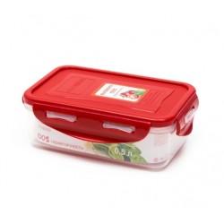 Контейнер Oursson CP0503S/RD 0.5л,пластик,крышка с защелками,силикон.уплотнитель,красный