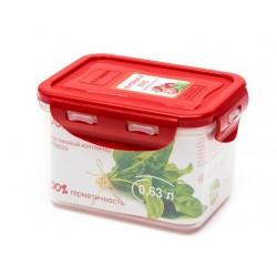 Контейнер Oursson CP0603S/RD 0.63л,пластик,крышка с защелками,силикон.уплотнитель,красный