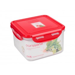 Контейнер Oursson CP1303S/RD 1.25л,пластик,крышка с защелками,силикон.уплотнитель,красный