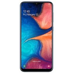 """Смартфон Samsung GalaxyA20 32GB SM-A205F Blue 2sim/6.4""""/1560*720/8х1.6ГГц/3Gb/32Gb/mSD/16Мп/Bt"""