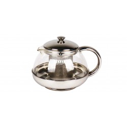 Заварник (чайник) Bekker BK-397 DeLuxe 0.5л,нерж.сталь+жаропрочное стекло