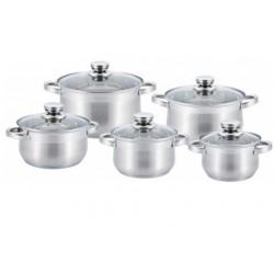 Набор посуды Bekker BK-1597 Premium 10пр,кастрюли:2.1л/16см,2.9л/18см,3.9л/20см,6.5/24см,8.2л/26см