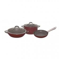 Набор посуды Bekker BK-4610 5пр,алюминий,мрамор.покрытие,кастрюля 24см,сотейник 28см,сковорода 24см,