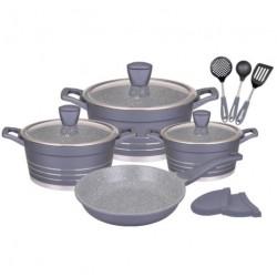 Набор посуды Winner WR-1309 12пр,кастрюли:20/24/28см,2.5/4.2/6.3л,сковорода 26см,крышки,лопатки