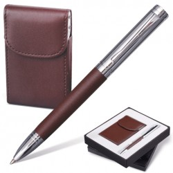 "Набор GALANT ""Prestige Collection"": ручка, визитница, т. коричневый, подар.кор., 141372"