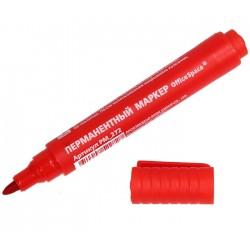 Маркер перманентный Спейс 2мм., пулевидный, красный (PM 272)