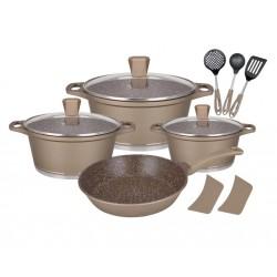 Набор посуды Winner WR-1310 12пр,кастрюли:20/24/28см,2.3/4/6.3л,сковорода 26см,крышки,лопатки