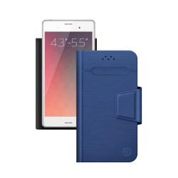 """Чехол-книжка для телефонов 4.3""""-5.5"""" Deppa Wallet Fold M синий (87009)"""