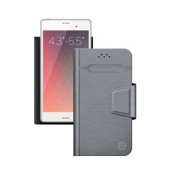 """Чехол-книжка для телефонов 4.3""""-5.5"""" Deppa Wallet Fold M серый (87006)"""